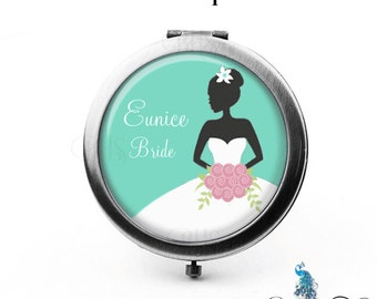 Personalized Bridesmaid Compact Mirror Wedding Gifts Cosmetic Mirror Custom Favors Mother of the Bride Maid of Honor