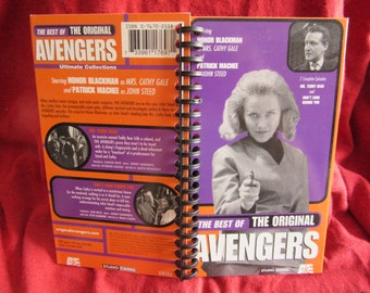 Best of the Original Avengers VHS Tape Box Notebook (Honor Blackman)