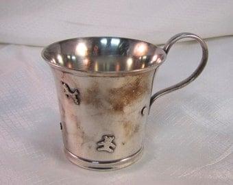 Vintage Sweeden C G Hallberg Silver Plated Babys Cup