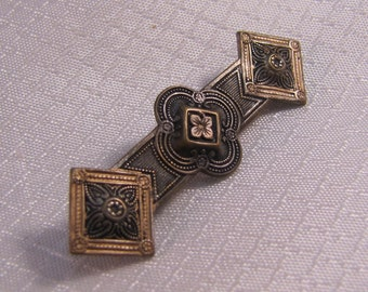 Vintage Edwardian Brass Brooch