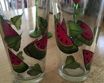 Watermelon Summer Fun Drinking Glasses