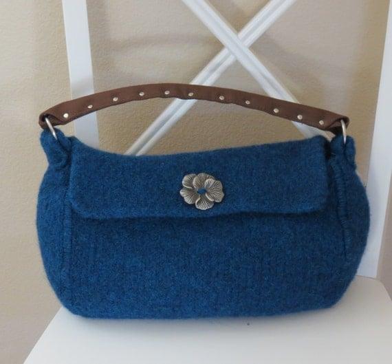 Knitted Mitten Patterns Free : Knit Bag Pattern Felted Purse Pattern by DeborahOLearyPattern