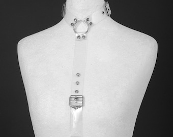 Clear PVC Vinyl Halter Body Harness