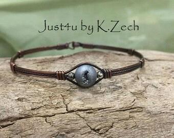 Copper Druzy bracelet bangle