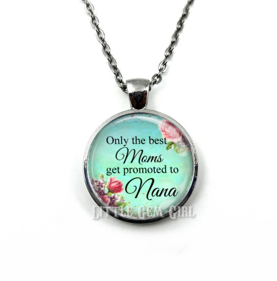 best get promoted to nana pendant necklace personalized