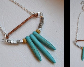 Turquoise Trio Necklace