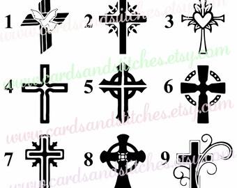 Cross Vinyl Decal - Vinyl Decal - Yeti Decal - Religious Decal OR Cross Iron-on - Iron-on Transfer - DIY Iron-on Transfer