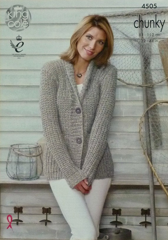 Knitting Pattern Ladies V Neck Jumper : Womens Knitting Pattern K4505 Ladies Long Sleeve V-Neck Roll