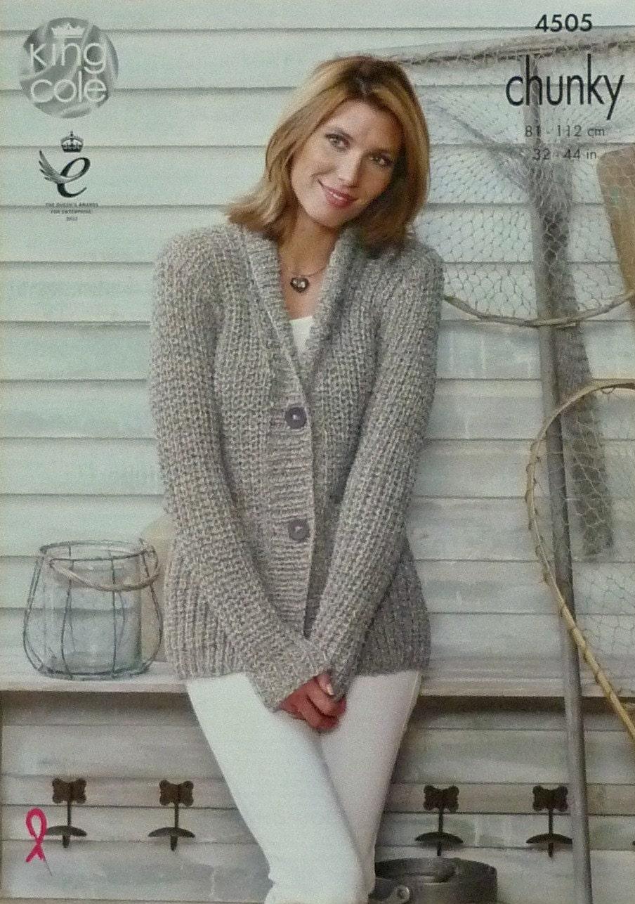 Womens Knitting Pattern K4505 Ladies Long Sleeve V-Neck ...