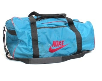 Vintage Retro Blue Nike Sports Bag Duffle