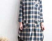 Women Loose Fitting Soft comfortable Asymmetric long shirt