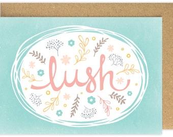 SALE Lush Welsh Congratulations card. Llongyfarchiadau. Engagement card. Welshisms card. Welsh Slang. Wales. Cymru. South Wales.
