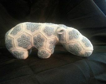 Small light blue hippo