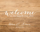 "Custom 11"" x 14"" Sign, Any color, design, Wedding Sign, Custom Sign, Personilzed Wedding Sign, Chalkboard texture, Wood texture, TheFindSac"