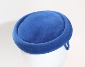 Vintage Carson Pirie Scott & Co. Blue Felt Topper Hat