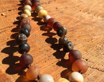 NATURE BOY Baltic Amber Necklace, Teething Necklace, Teething Anklet, Toddler, Adult Necklace, Unisex Necklace, Mens Amber Necklace