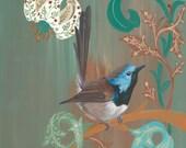 GICLÉE PRINT: Morris' Birds - Fairy Wren