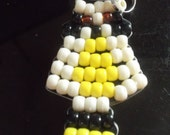 Childens Raccoon Pony Bead Keychain Very Cute Great for your Backpack or Just your Keys Great Gift