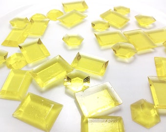 125 YELLOW EDIBLE SUGAR Jewels - Featured in Brides Magazine