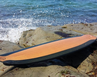 Carbon-Wood Surfboard