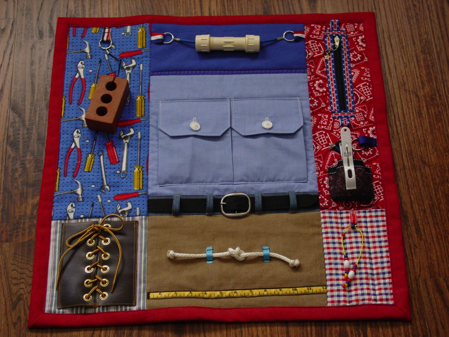 Busy Man Fingers Fidget Quilt Tactile Fun And Hand