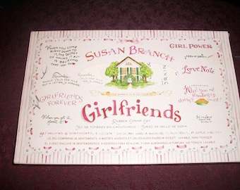 """Susan Branch """"Girlfriends"""" Mounted Rubber Stamps"""