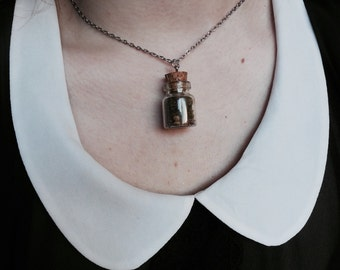 Tiny Terrarium Eco System in a Glass Jar Necklace