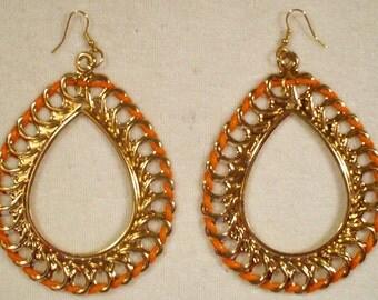 6 Pair Gold Tone Tear Drop Earrings NEW