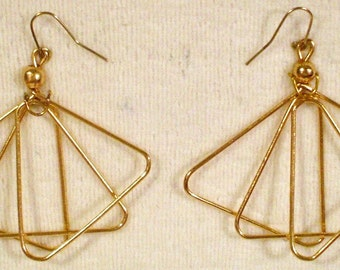 10 Pair Gold Tone Earrings to decorate NEW