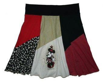 Minnie Mouse Plus Size XL 1X Hippie Skirt Women's upcycled clothing from Twinkle