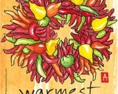 206. funny chili pepper holiday card - choose any 6 designs
