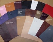 """Leather 8""""x10"""" KING Cowhide Soft Full grain Your choice of color 3-3.5oz/1.2-1.4 mm PeggySueAlso™"""