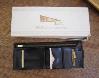 Lady Jet-Stream Wallet  in original box. New Old Stock. Lovely Bi Fold Wallet
