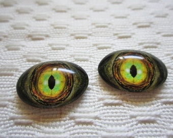 Oval glass eyes,spooky eyes,dragon eyes,18x13mm cabochon,small oval glass cabochons