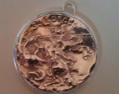 Make setting and bail for medal to be worn as pendant