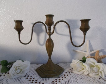 Vintage Candelabra 3 Arm Taper Cande Holder Mid Century Hollywood Regency Country Home Decor Rustic Shabby Chic Unity Wedding Decoration