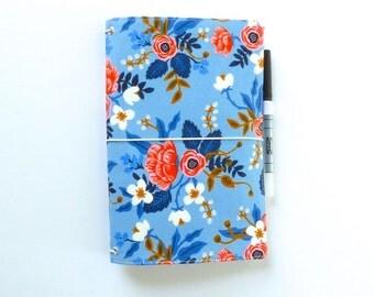 Ready to Ship - Cahier cover Medium Midori Fauxdori Fabric Travelers Notebook Faux Dori Moleskine Planner Cover