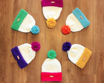 Bobble hats / PAINTBOX / mix&match / knitted