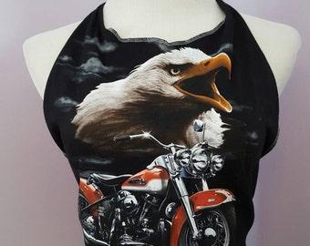 Vintage 1990's Harley Davidson Cycles Screaming Eagle Halter Top, Size M-L
