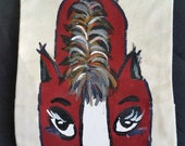 Hand Painted Horse Canvas Hand Puppet
