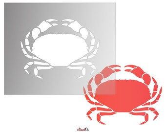 "Crab Craft and Wall Stencil - Sizes 4"" to 21"""