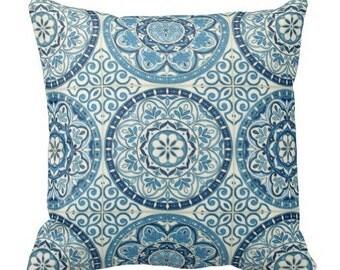 Blue Outdoor Pillows, Blue Throw Pillows, Blue Patio Chair Pillows, Outdoor Waverly Pillows, Pillow Covers, Pool Pillows, Blue toss pillows