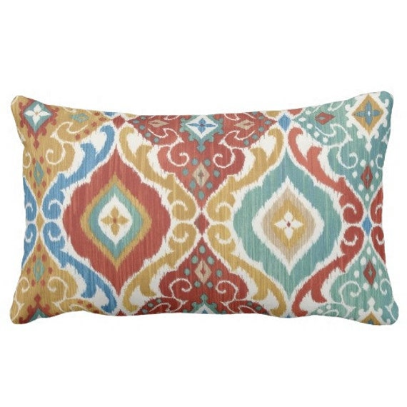 Blue Red Throw Pillow : Red Blue Outdoor Pillows Throw Pillow Patio by FineFreshDesign