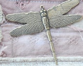 Dragonfly Brass Charm, Brass Ox