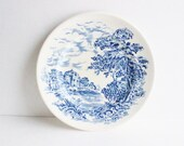 Vintage blue and white plate, wall plate, collectible plate, scenic plate, Wedgewood and Co, Countryside