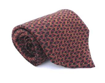 ON SALE J Blades & Co Vintage Men's Silk Necktie, Fall Color Tie, Black, Red, Orange, Gold, Green