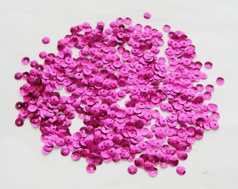Fuchsia Loose Cupped 5mm Sequins- (5grams)(.18oz)