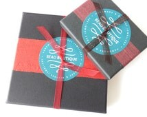 Luxury jewelry gift boxes from recycled card, eco-friendly gift wrap service, sustainable bracelet gift box and tissue paper