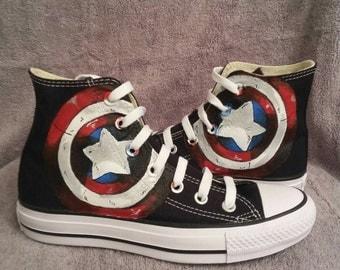 Captain America shield Converse