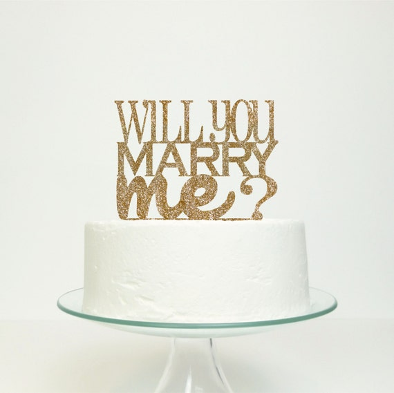 Items similar to Will You Marry Me Cake Cake Topper on Etsy